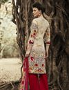 photo of Beige-Red Color Fabulous Designer Palazzo Suit