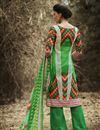 photo of Green Color Cotton Classic Palazzo Suit
