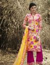 image of Yellow-Pink Color Cotton Palazzo Suit