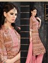 photo of Beige-Pink Cambric Cotton Party Wear Salwar Suit