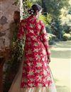 photo of Pink-Beige Color Embroidered Lycra Designer Lehenga Choli for Wedding
