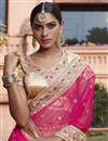 photo of Wedding Wear Embroidered Green-Pink Color Designer Net Lehenga Choli