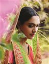 photo of Pink-Green Color Designer Festive Wear Embroidered Net Lehenga Choli