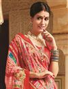 photo of Bandhani Print Georgette Saree in Peach Color