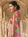 photo of Designer Pink Color Georgette Bandhani Print Saree