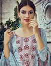 photo of Grey Color Pakistani Style Cotton Palazzo Salwar Suit