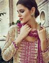 photo of Pakistani Style Cream Color Party Wear Cotton Palazzo Suit