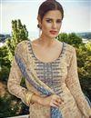 photo of Cream Color Cotton Pakistani Style Salwar Suit