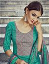 photo of Sea Green Color Pakistani Style Cotton Palazzo Salwar Suit