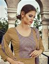 photo of Pakistani Style Golden Color Party Wear Cotton Palazzo Suit