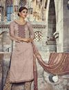 image of Peach Color Pakistani Style Cotton Salwar Suit