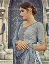 photo of Grey Color Cotton Pakistani Style Palazzo Salwar Suit