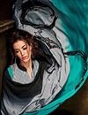 photo of Lovely Cyan-Grey Color Crepe Printed Saree