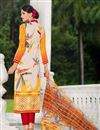 photo of Beige Color Casual Printed Cotton Satin Salwar Kameez