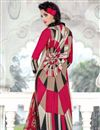photo of Cream-Pink Color Casual Wear Cotton Satin Printed Salwar Suit