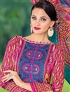 photo of Straight Cut Cotton Satin Salwar Kameez in Pink-Yellow Color