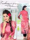 photo of Pink Color Casual Wear Cotton Satin Printed Salwar Suit