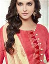 photo of Designer Pink Color Cotton Embroidered Salwar Kameez
