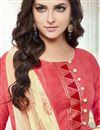 photo of Designer Pink Color Cotton Embroidered Salwar Kameez