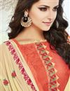 photo of Embroidered Straight Cut Cotton Salwar Kameez In Orange Color