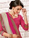 photo of Pink Color Designer Party Wear Georgette Fabric Saree