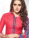 photo of Cotton Fabric Patiala Salwar Kameez In Pink Color