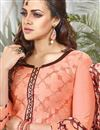 photo of Peach Color Party Wear Patiala Style Cotton Salwar Kameez