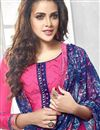 photo of Party Wear Cotton Fabric Patiala Salwar Suit In Pink Color