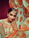 photo of Mehendi Green Color Party Wear Salwar Kameez In Georgette Fabric