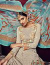 photo of Beige Color Party Wear Designer Georgette Salwar Kameez