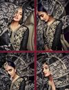 photo of Black Color Party Wear Designer Salwar Kameez In Georgette Fabric