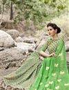 photo of Green Color Fancy Print Party Saree In Chiffon Fabric