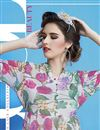 photo of Off White Color Digital Print Party Wear Georgette Fabric Kurti