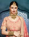 photo of Bridal Wear Embroidered Art Silk Lehenga Choli In Pink Color