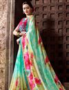 photo of Riveting Georgette Party Wear Printed Saree