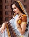 photo of Grey Color Beautiful Designer Printed Saree