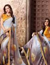 image of Grey Color Beautiful Designer Printed Saree