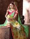 photo of Green Color Beautiful Designer Printed Saree