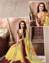 photo of Fabulous Yellow Color Georgette Designer Saree