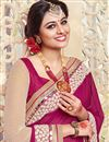 photo of Comforting Georgette Fabric Party Wear Saree With Blouse In Pink Color