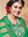 photo of Green Color Alluring Georgette Saree With Designer Border