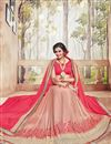 photo of Marvelous Pink And Peach Color Designer Saree In Georgette Fabric