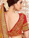 photo of Traditional Silk Fabric Saree In Orange Color With Silk Blouse