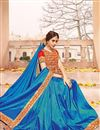 photo of Blue Color Party Wear Silk Fabric Designer Saree