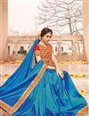 photo of Blue Color Party Wear Silk Fabric Designer Saree