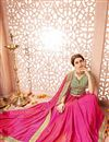 photo of Pink Color Traditional Designer Party Wear Silk Saree