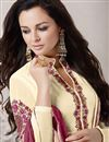 photo of Cream Color Festive Wear Georgette Fabric Designer Salwar Kameez