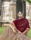 photo of Maroon Color Designer Embroidered Saree In Georgette Fabric