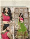 photo of Designer Georgette Embroidered Saree In Green Color
