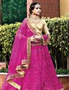 image of Soothing Net Designer Magenta Color Embroidered Lehenga Choli